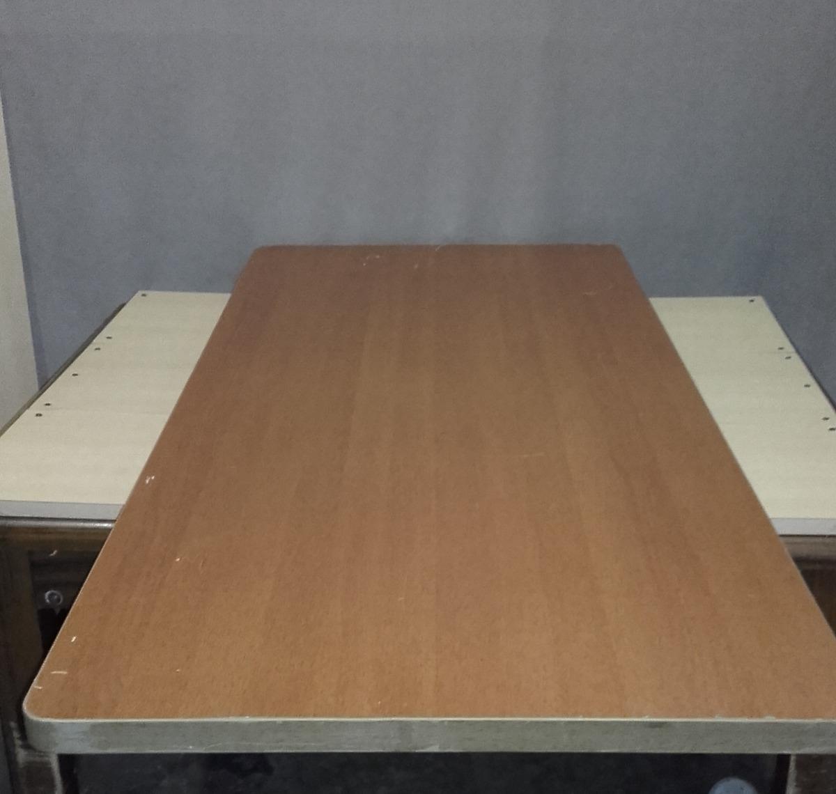 Madera aglomerada con formica para escritorio mesa o meson bs 55 00 en mercado libre - Mesa escritorio madera ...