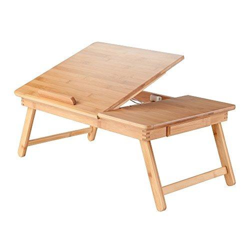 madera atractivo 80623 baldwin escritorio portátil de bamb