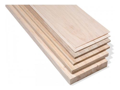 madera balsa en plancha de 6 mm 7,6 cm x 91,5 cm