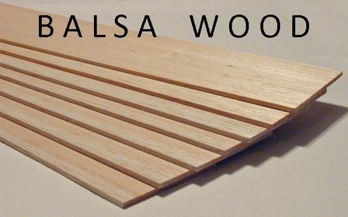 madera balsa lamina 3/32x2-3/4x30 plgds 2,4mm espesor 3 vrds