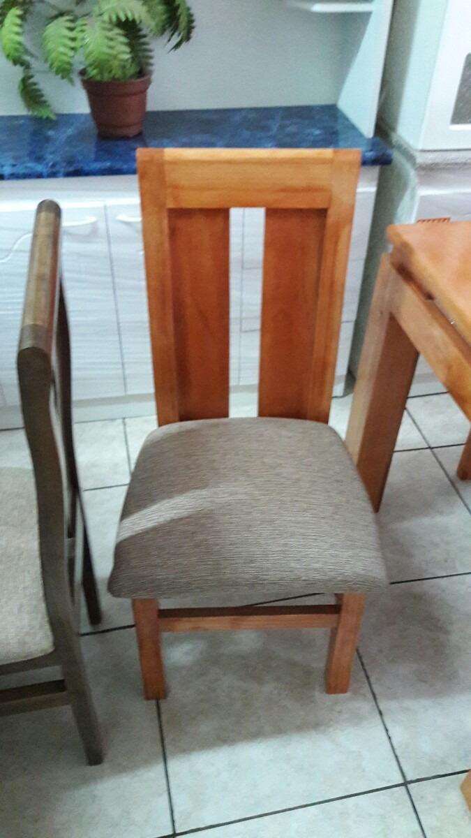 Sillas de madera para comedor 6 y 4 unidades despacho casa for Precio sillas comedor