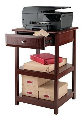 madera de winsome - mesa delta impresora nogal