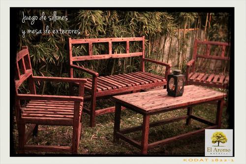 madera exterior sillón