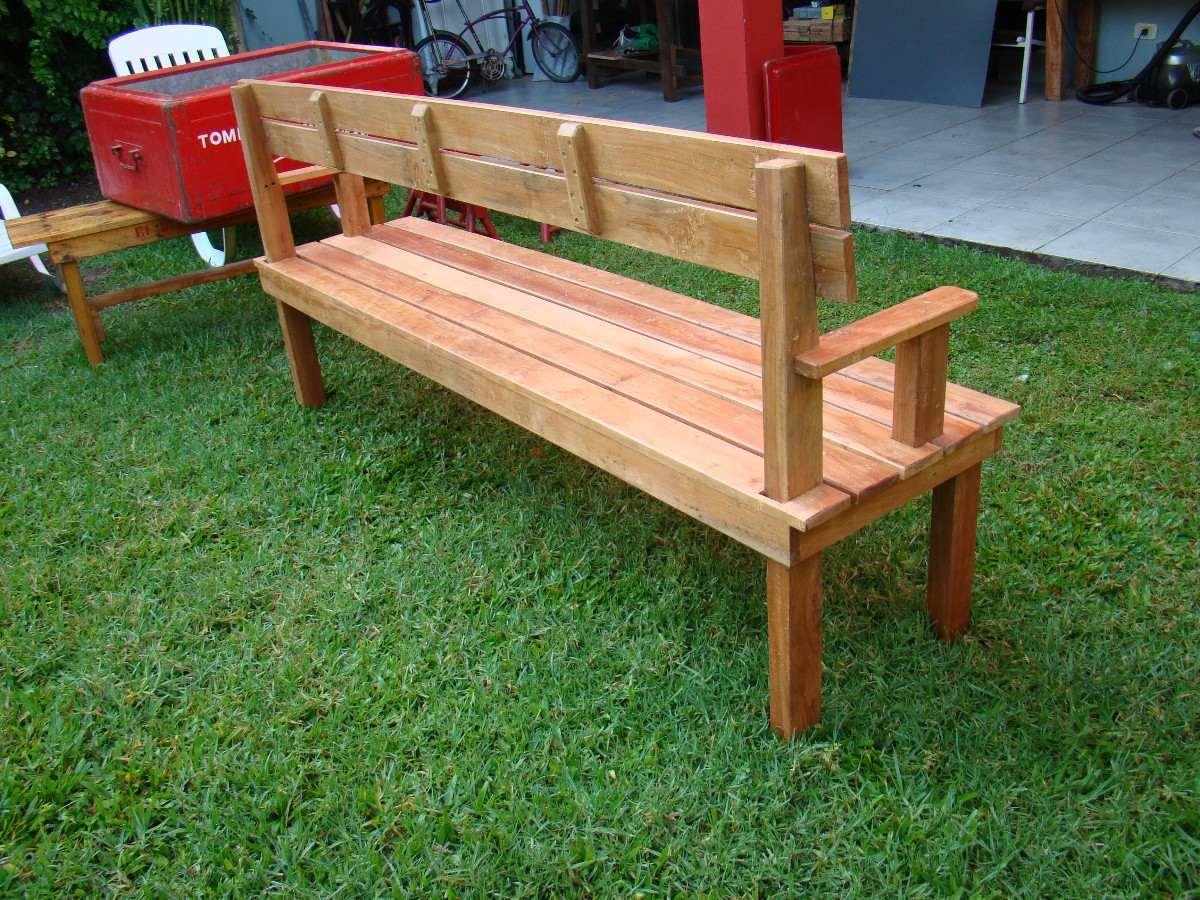 Maderas para jardin madera tratada de flandes tapa de - Banco de madera ...