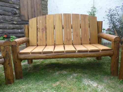 Juego sillones madera tratada piscinas patios jard n deck for Sillones de madera para jardin
