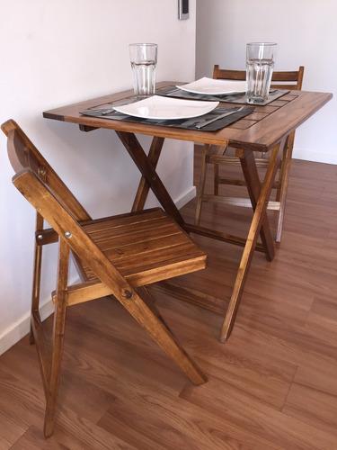 madera jardin mesa