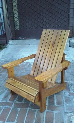madera jardin sillones