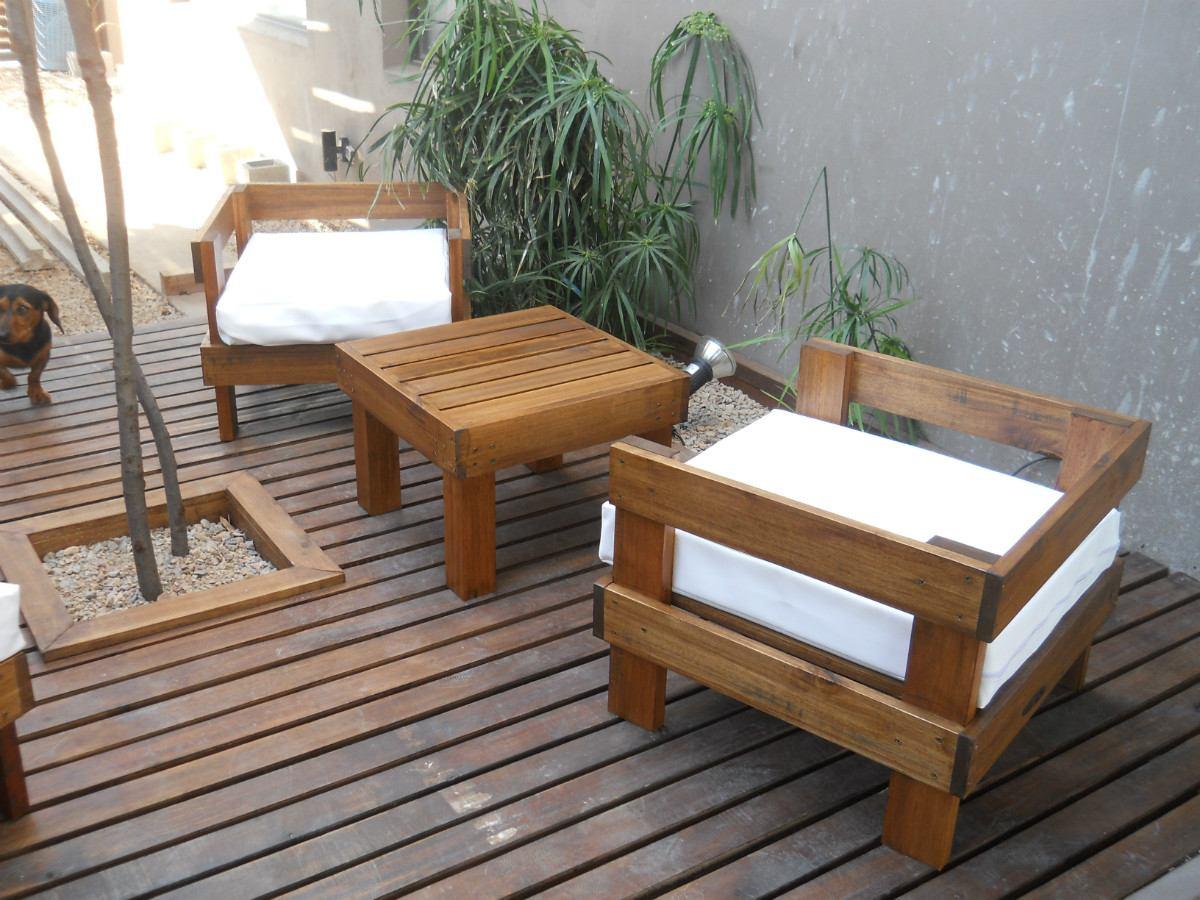 madera muebles jardin sillones exterior