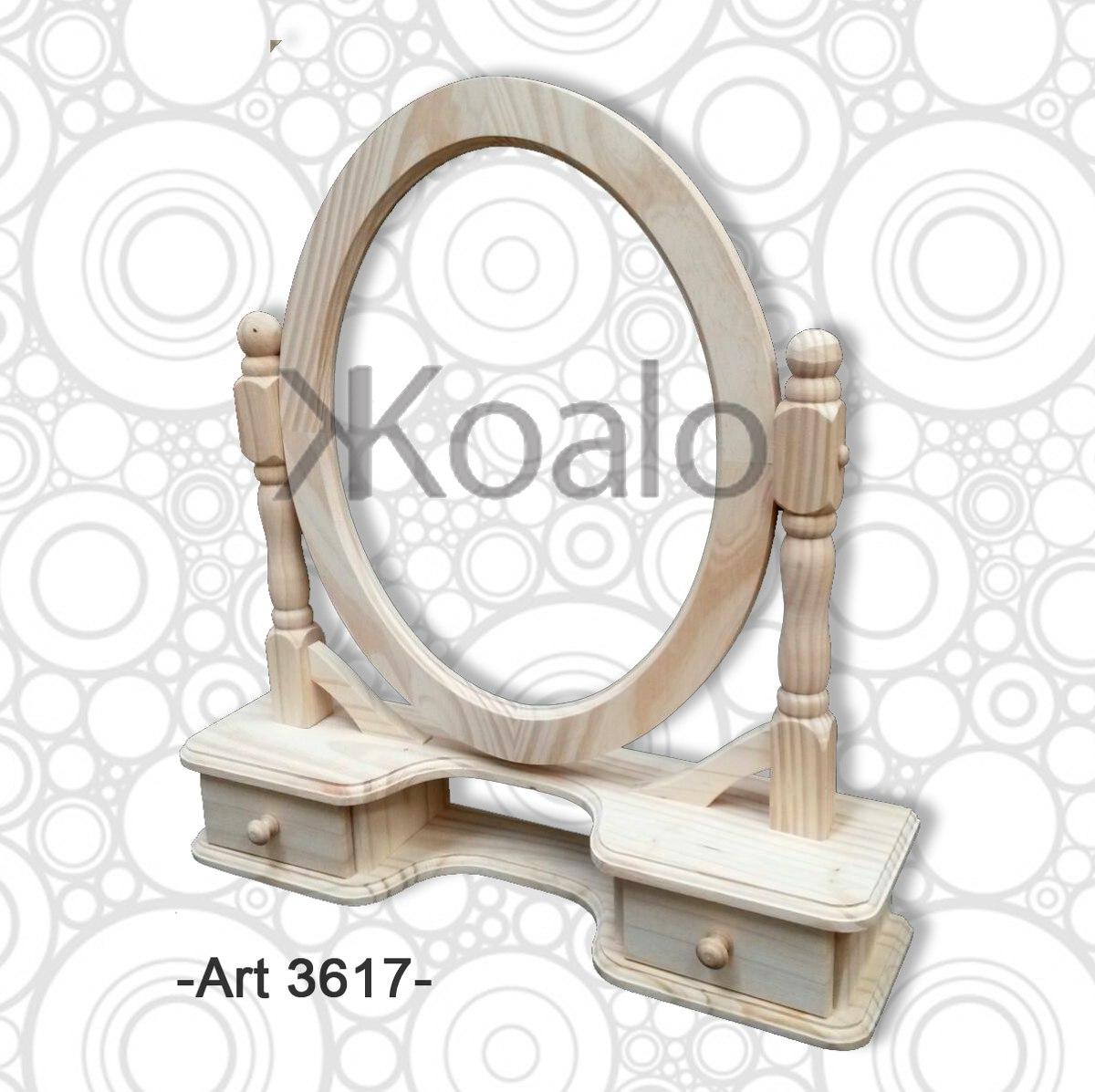 Marco Espejo Ovalado Madera De Pino Koalo Muebles 704 00 En  # Fabrica De Muebles Vedia