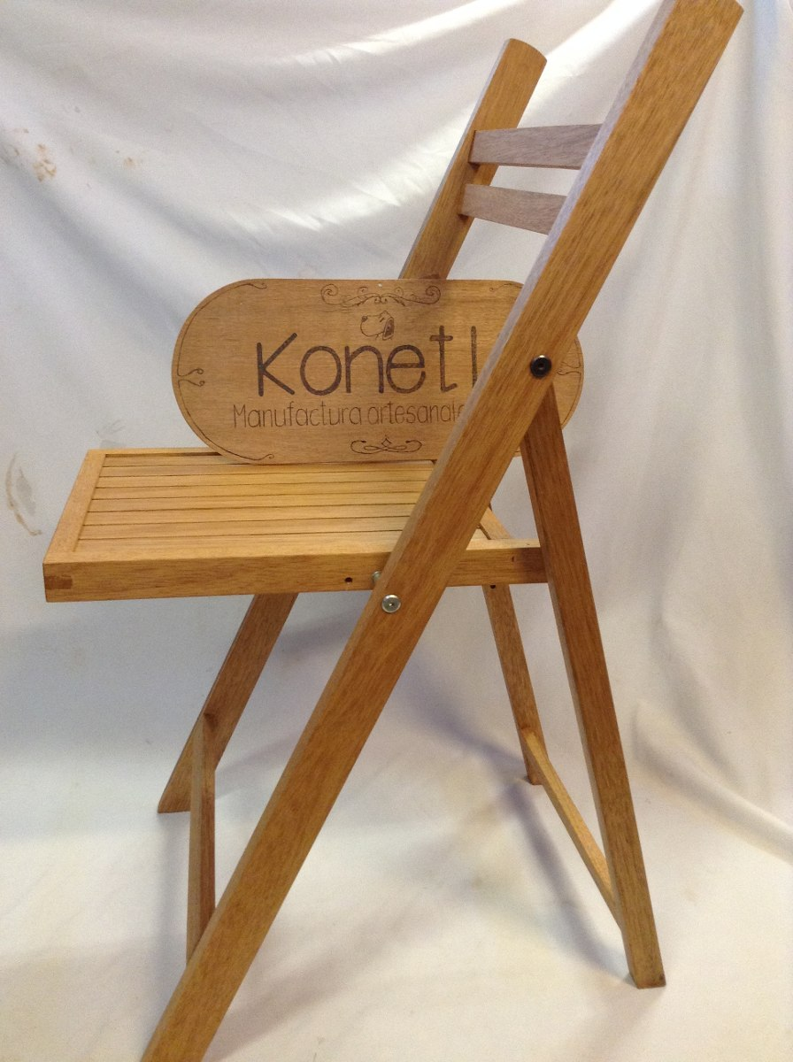 Silla plegable de madera para jard n terraza konetl - Sillas de plastico para terraza ...