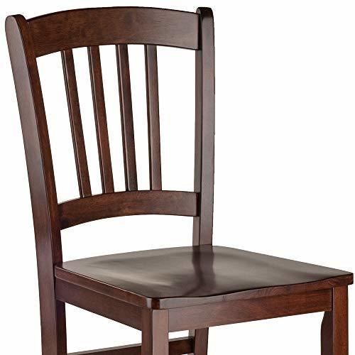 madera victoriosa  madison 2pc juego de sillas liston de atr