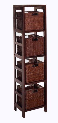madera winsome madera leo madera de 4 niveles estante de alm