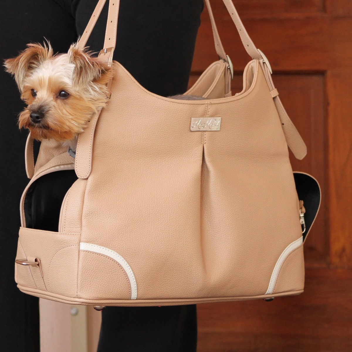 334deb59bd2c Madison mica michele mocha faux pebble leather dog carry bag jpg 1200x1200 Madison  bag