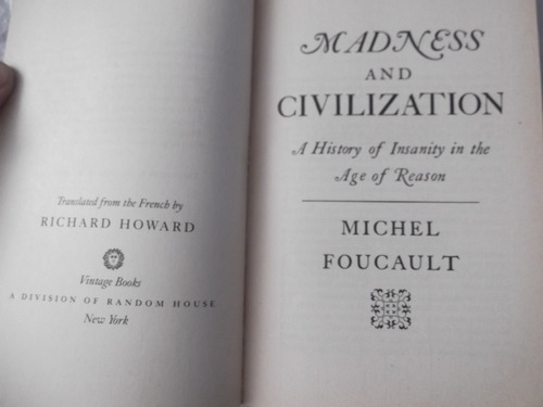 madness and civilization michel foucault en ingles