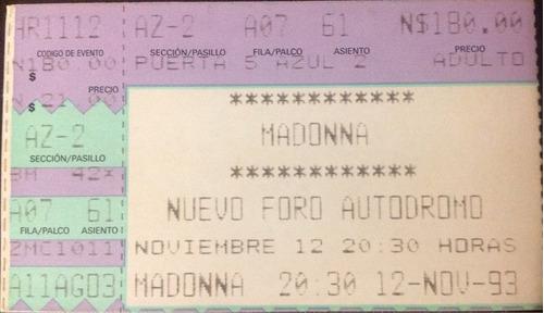 madona - ray of light y boleto del primer concierto en mex