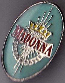 madonna 1 pin de metal - unico e imperdible!!!
