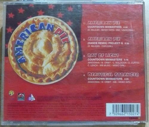 madonna cd single american pie countdown mixmasters single
