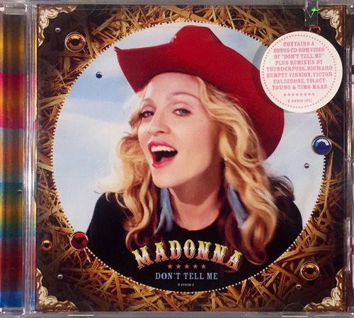 madonna - don't tell me - cd maxi-single, enhanced - lacrado