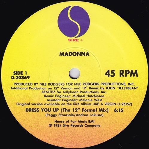 madonna - dress you up - single - vinil