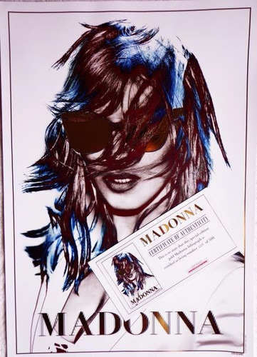 madonna exclusive gold collector's lithograph
