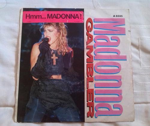 madonna gambler single vinyl lp vinilo 45rpm holanda