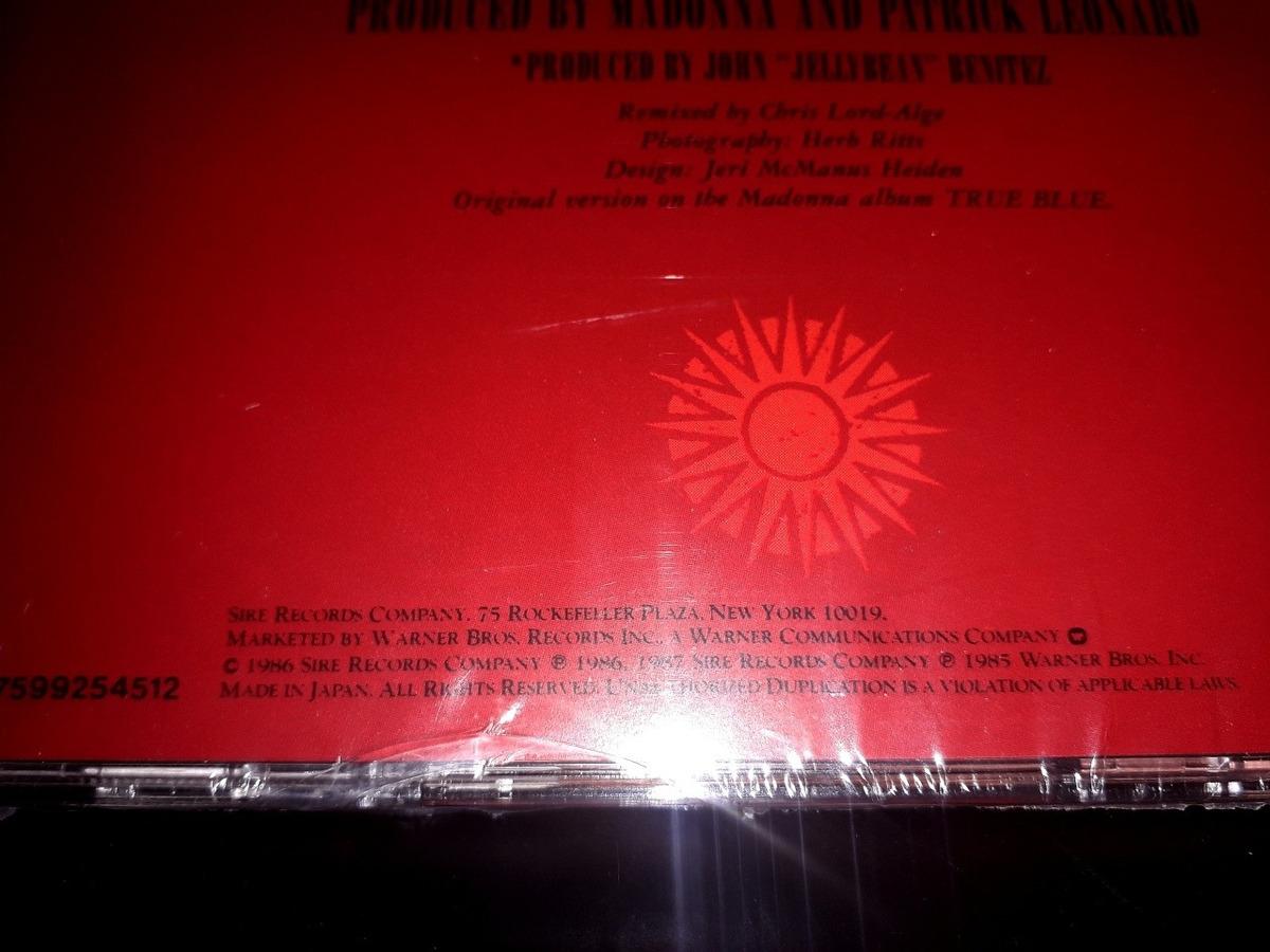 Madonna La Isla Bonita Aus/japan Cd Original Nuevo Y Sellado