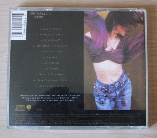 madonna like a prayer cd (tumusica)