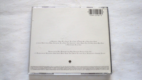 madonna like a virgin cd warner music mexico