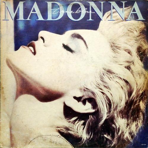 madonna lp 1986 true blue + encarte + poster 14084
