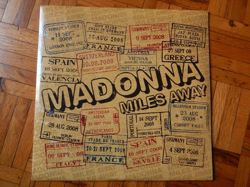 madonna / miles away  vinil doble sellado !!!!