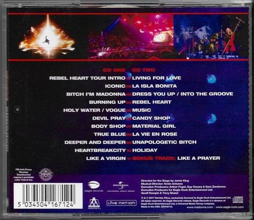 madonna / rebel heart tour / cd doble / u.s.a. / sellado