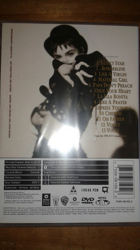 madonna - the immaculate collection (dvd) *nuevo sellado*
