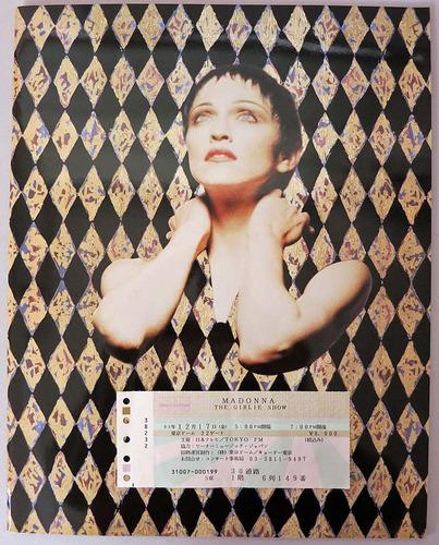 madonna -  tour book girlie show en japones