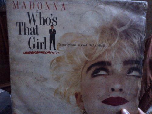 madonna - who's that girl vinyl album