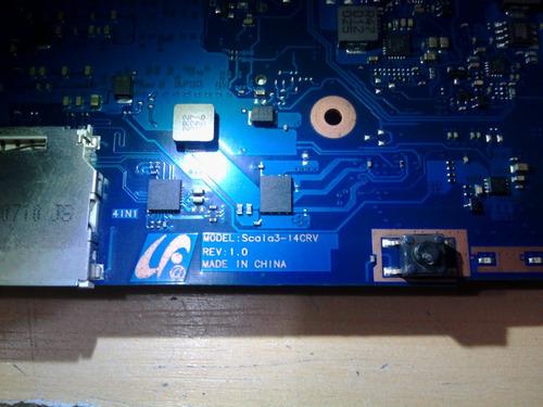 madre laptop tarjeta