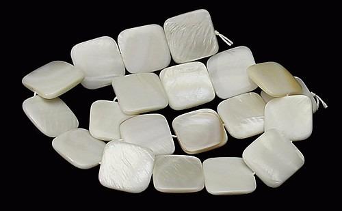 madreperola branca quadrado liso 15mm 20 peças teostone 155