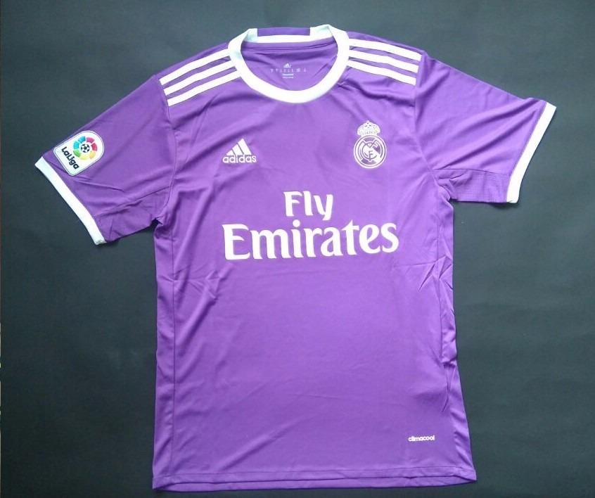 3609d641dc0d0 Camiseta Real Madrid 2016 2017 Visitante Original Morada -   185.000 ...