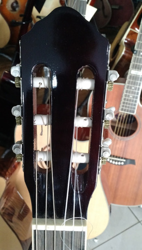 madrid violão clássico nylon elétrico md100ec bs sunburst