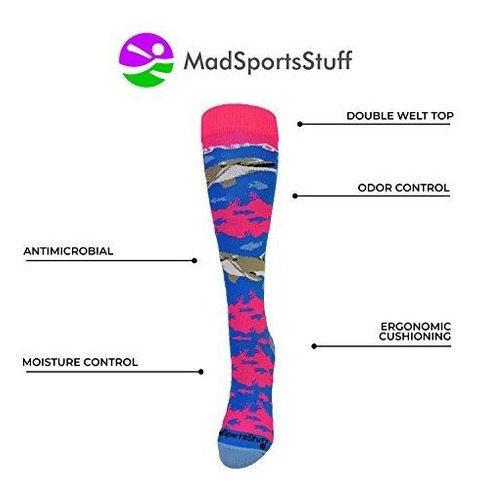 madsportsstuff happy dolphins atletico sobre los calcetines