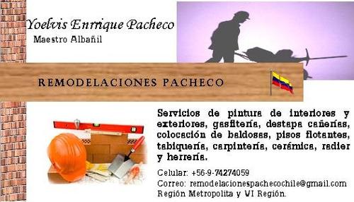 maestro  albañil, pintura, carpintería, soldadura.
