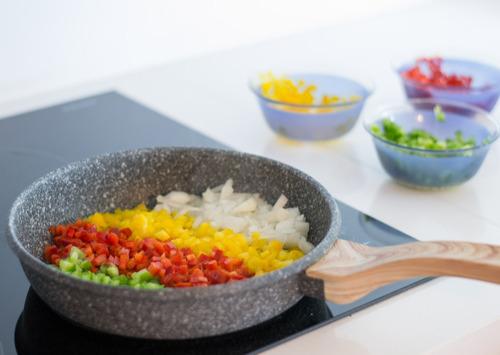 maestro de cocina sarten premium antiadherente granito 24cm