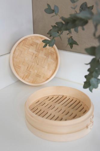 maestro de cocina - vaporera de bambú con tapa 20cm