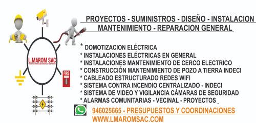 maestro electricista - puntos de red y voz - cctv