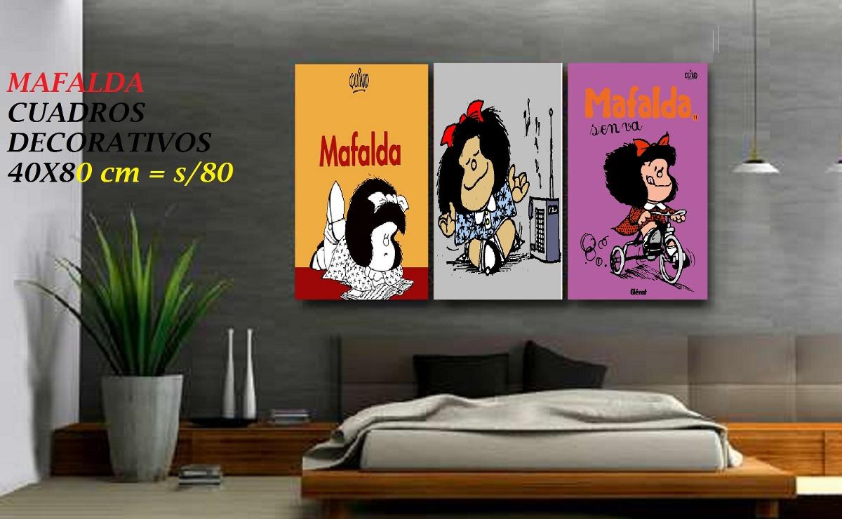 Mafalda cuadros para ni os adultos decoracion sala - Cuadros habitacion ninos ...