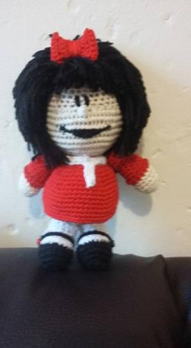 mafalda muñeca tejida amigurumi