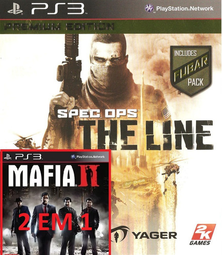 mafia 2 + spec ops the line ps3 psn - midia digital