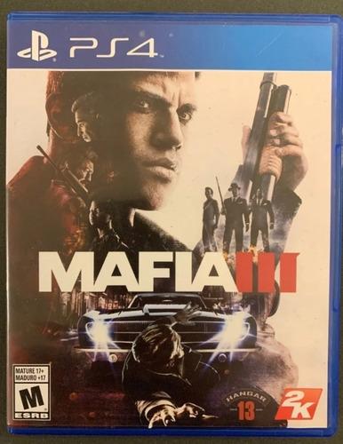 mafia 3 ps4 juego físico en caja