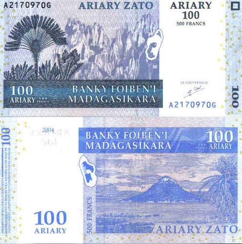 magadascar, 100 ariary 2004p86