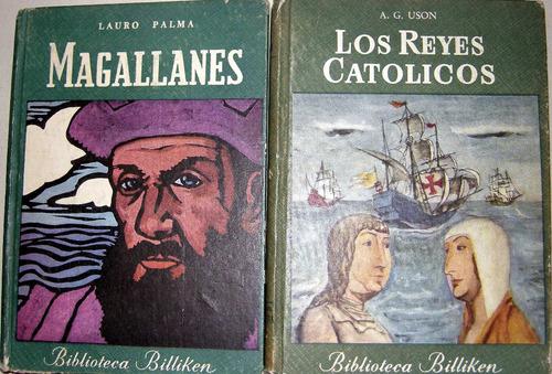 magallanes reyes católicos biblioteca billiken lote 2 libros