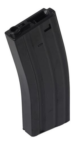 magazine rifle airsoft m4/ m16 hi cap black 330 bb's
